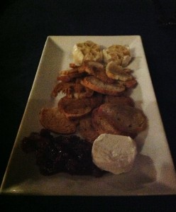 For our appetizer we ordered the raved about roasted garlic and goat cheese dish. Words cannot describe, honestly.