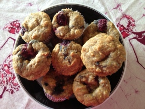 Healthy Cornmeal Muffins with Berries and Lemon