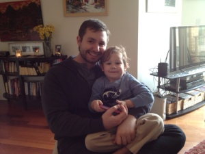 My most favorite brunch guest and his dad. :-)