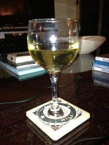 Who wouldn't need to top off a working from home day with a nice glass of apple wine?