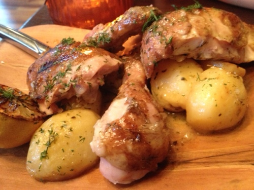 At the suggestion of our waitress for our meat dish we decided to try the chicken with lemon potatoes seasonal dish.