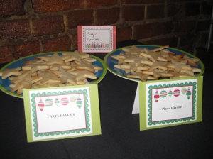 The finished products at the party. All the cookies were gone at the end - I guess they were good!