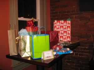 Some of the White Elephant presents people brought.