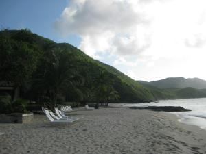 The beach at our resort, the Carambola.