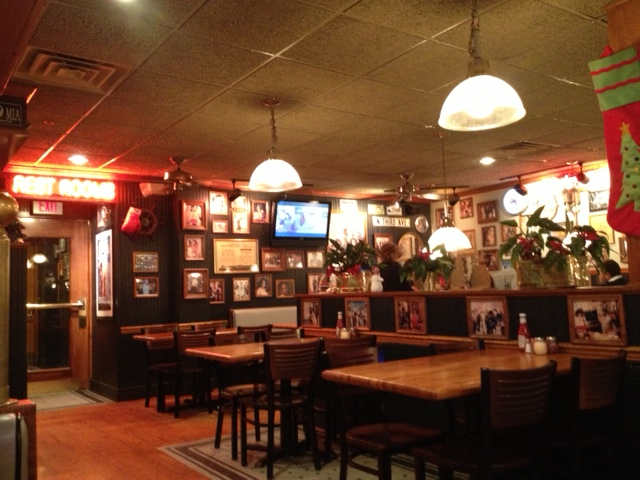 Inside Mystic Pizza.