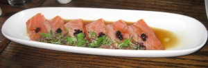 Salmon Tartare at The Backhouse Restaurant.