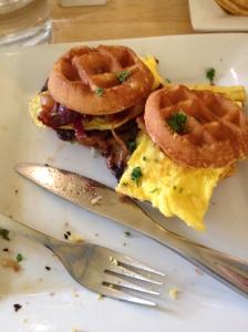 Breakfast sliders at Bru's.