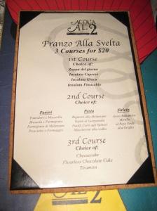 Price fix menu.