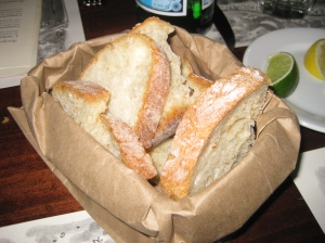 Bread to start.