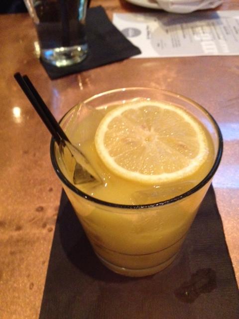 Mango Lemonade | vodka | mango puree | simple syrup | lemon