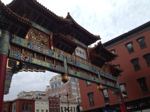 The entrance to D.C.'s Chinatown.