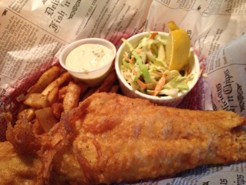 The fish & chips were so good! The coleslaw was really good too.