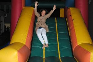 Me playing in the bounce house.