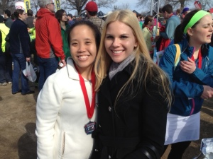 It really meant a lot to me that Tiffany had come so far to watch me run my first half marathon.