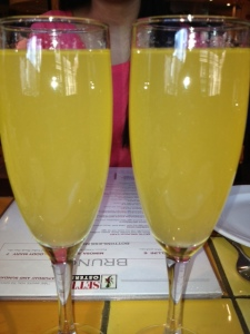 I had a lovely brunch with my friend Arlene at Sette Osteria in Dupont Circle. We hadn't seen each other since our holiday party in December so we had a lot of catching up to do! And bellini drinking. :-)