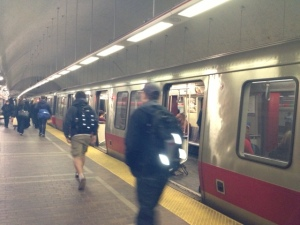"""Riding the T from """"southie""""!"""