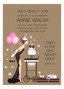 My 30th birthday invitations I customized and ordered.