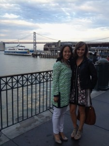 The restaurant was right by the Bay Bridge.