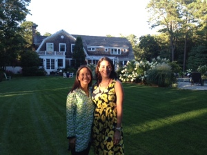 One of my colleagues and I posing in the backyard before the reception began.
