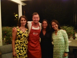 My colleagues and I with our special guest of the evening, Chef Jason Roberts.