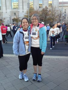 My mom and I right before we ran the Thanksgiving Day Turkey Trot in DC last year.