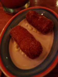 A special kind of croquettes on the menu last night. I can't remember what was in them, I just remember them being amazing!