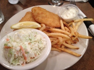 My pub go-to, Fish and Chips, though this was not the best I have had...