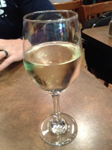 I ordered a glass of wine in celebration of something I will be sharing with you very soon!