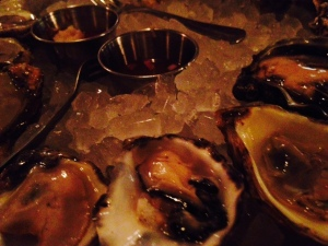Oysters on the half shell!