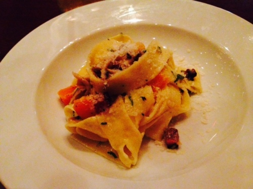 Christina and I decided to order the House Tagliatelli with Butternut Squash and Parmesan.