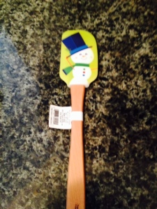 "A Christmas-themed spatula for one of my two ""secret santas"" I have been assigned to."