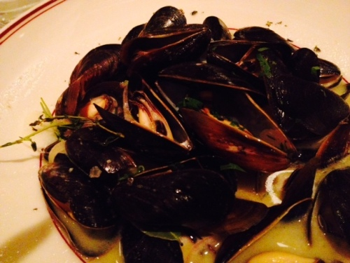 I ordered the mussels...