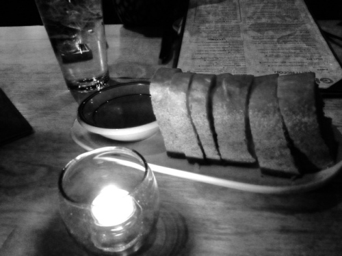 The bread basket  basket was delicious! Our server kept bringing us more and more.