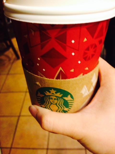 Grande skinny vanilla latte. YUM!