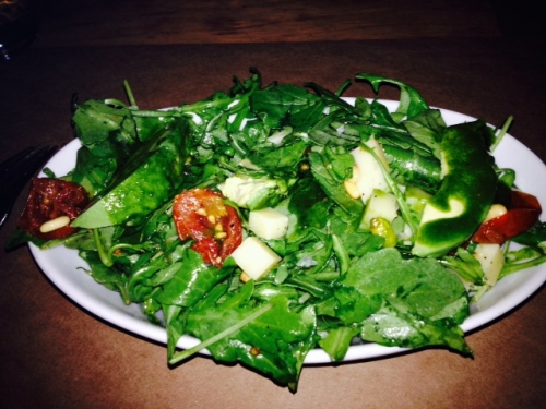 Loved the huge slices of avocado. (arugula, avocado, confit tomatoes, emmenthaler, pine nuts, pesto)
