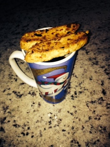 A little coffee and a little biscotti!