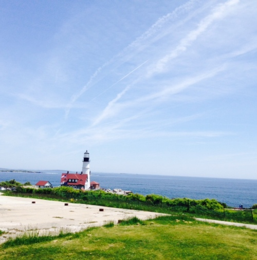 The Portland Headlight in Fort Williams Park.