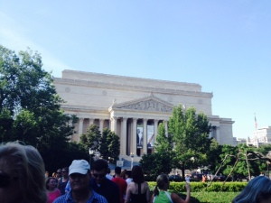 Can't complain about the scenery around the Sculpture Garden - hello National Archives!