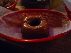 A Maple Bacon Bourbon doughnut to finish.