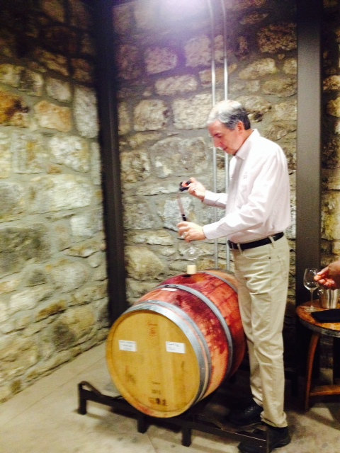 We all were able to try some wine directly out of the barrel!