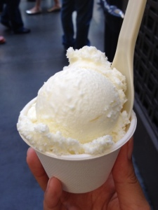 I got a scoop of the lemon ice cream.