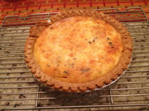 I also made this salmon and cheese quiche for breakfast tomorrow.