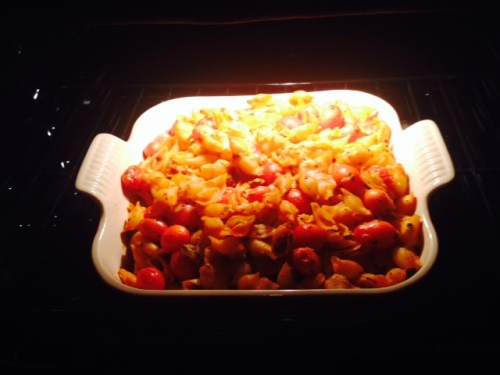 I made this for dinner tonight when Tommy and his mom get home from the airport.