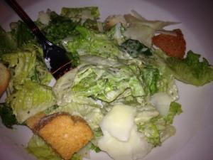 I had a side Caesar salad...