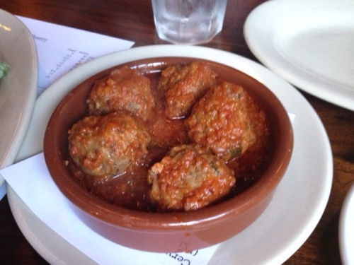 Meatballs in a zesty tomato sauce
