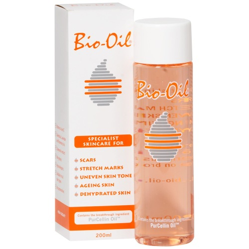 Bio Oil for stretch marks.