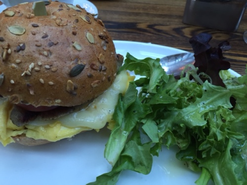 Egg Sandwich with Turkey Sausage.