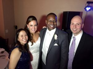 Tommy and me with the lovely couple.