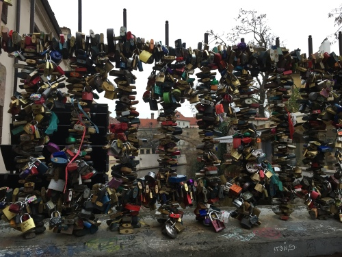Love Locks on the Charles Bridge.