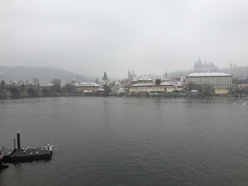 View of the Vltava taken on our walk back to town.